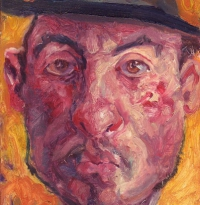 Jacques in a black hat. 18x14