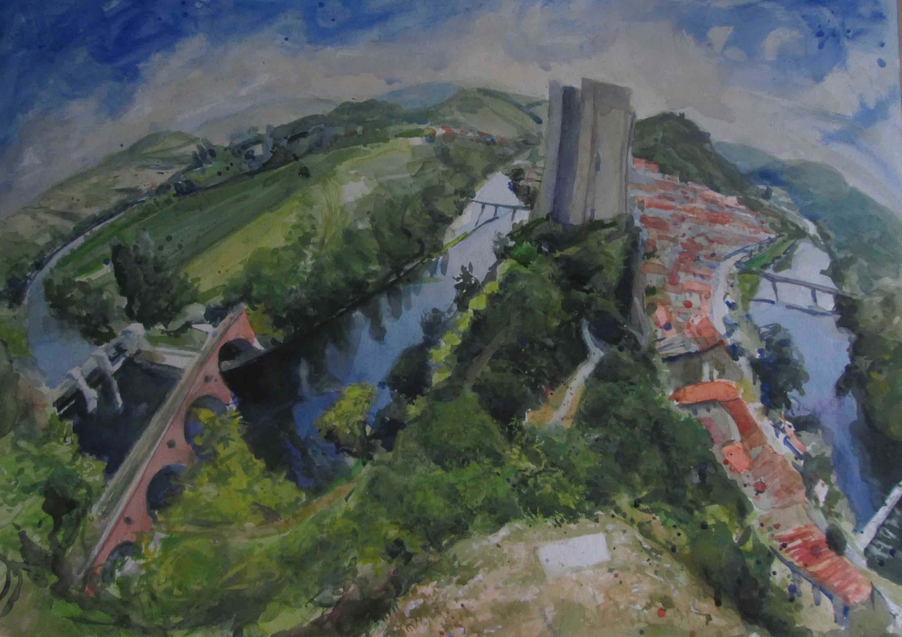 Above-Luzech-2-watercolour. available 55x72