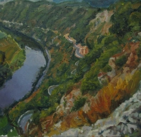 River-arc-&-Cliffs. private collection 65x60