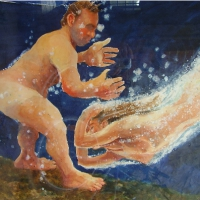 Swimmers in Phosphorescence